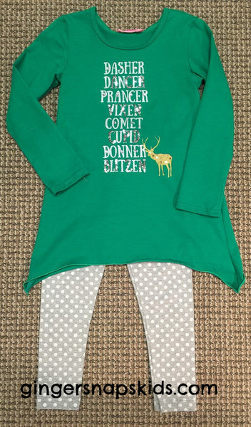 Haven Girl Dasher Tunic & Silver Dot Leggings Set (sz 2, 3 last ones)