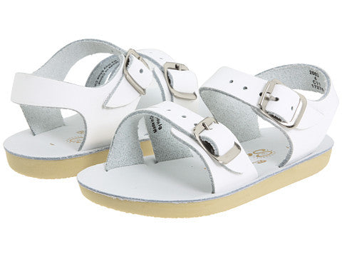 Sun-San Saltwater White Sea Wees Sandals (sz 1-4)