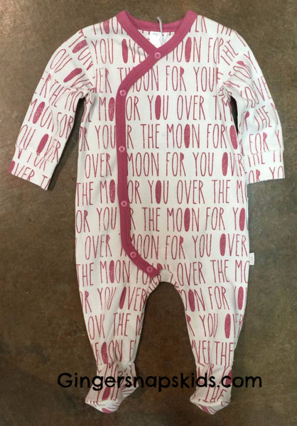 Petit Lem Girls Fly Me to the Moon Footie (sz. NB-6m) | FALL 2017 PREORDER