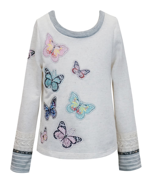 Hannah Banana Sequin Butterfly Top (sz 4-10) Last one size 7