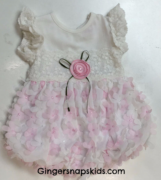 Cach Cach Lilacs and Lace Romper (sz 3m-24m)