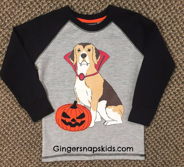 Trick or Treat Halloween Dog Tee (sz 2T-7) | FALL 2017 PREORDER