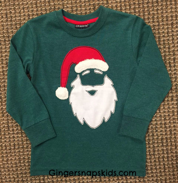 Santa I Tried Applique Front and Back Tee (sz 2T-7) | FALL 2017 PREORDER