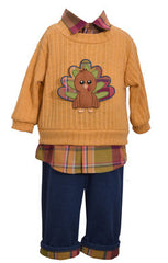 Mock Twofer Top Turkey Pant Set (sz 0/3m-4T) | FALL 2017 PREORDER