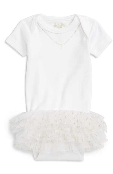Cross with Tutu Onesie (sz 3m, 6m)