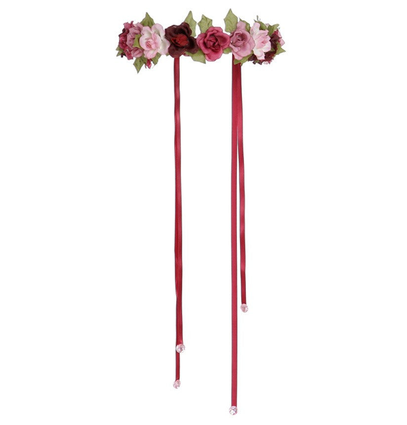 Pink Rose Garland Halo