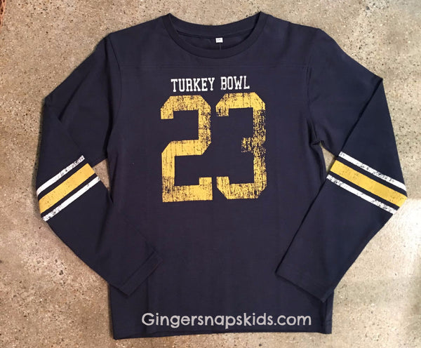 Wes and Willy Turkey Bowl Tee (sz 2T-7)