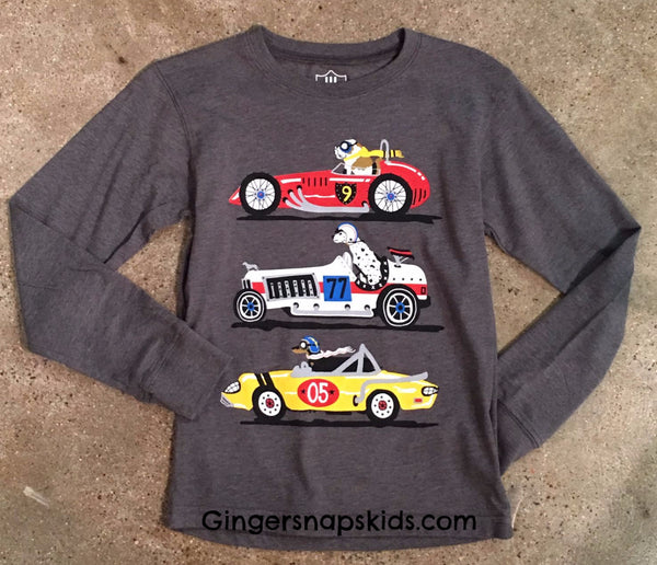 Wes and Willy Racing Dogs Tee (sz 12m-5) | FALL 2017 PREORDER