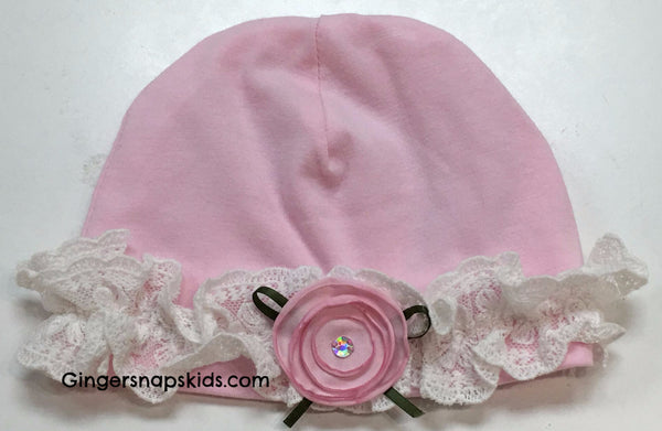 Cach Cach Lilacs and Lace Cap (sz 0/3m)