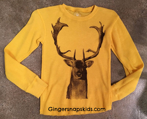 Wes and Willy Deer Thermal Tee (sz 4-7)