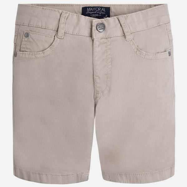 Mayoral Boys Tan Basic 5 Pocket Shorts (sz 2-7) | SPRING 2017 PREORDER