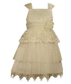Ivory Tiered Skirt Party Dress (sz 4-6X)