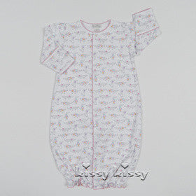 Kissy Kissy Girls Darling Dachshunds Print Convertible Gown (sz NB-SM)