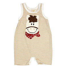 Haute Baby Boys Giddy Up Romper (sz 0/3m last one )