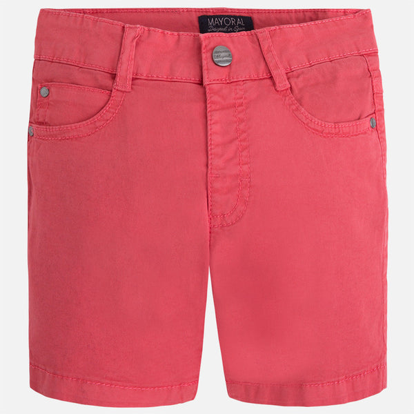 Mayoral Boys Coral Basic 5 Pocket Shorts (sz 2-7) | SPRING 2017 PREORDER