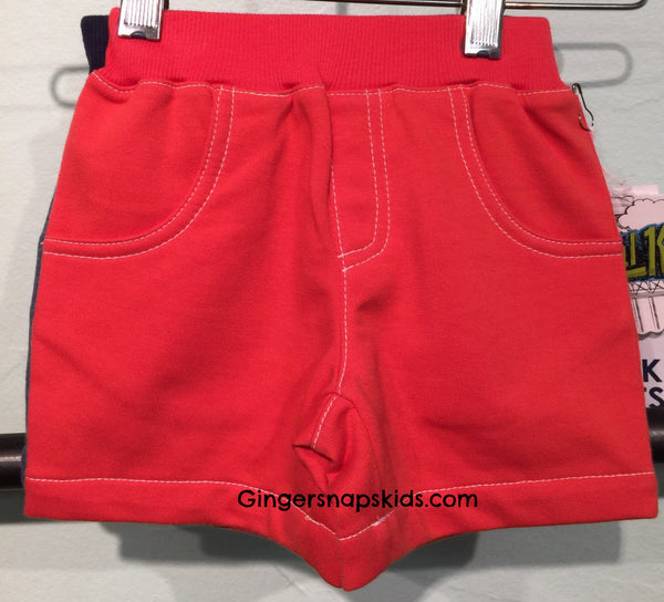 Kapital K Knit Red French Terry Shorts (sz 0/3m last ones)