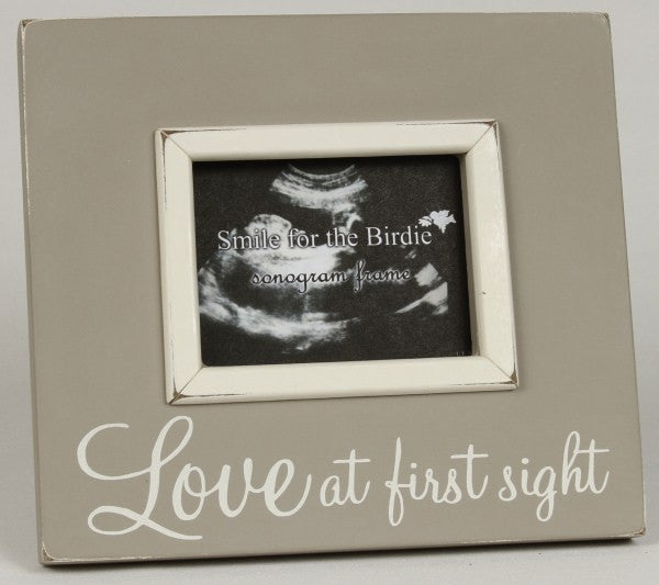 Taupe Love at First Site Sonogram/Photo Wooden Frame