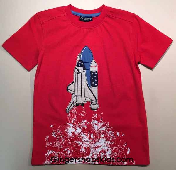 Space Shuttle Take Off Tee (sz 2T-7) | SPRING 2017 PREORDER