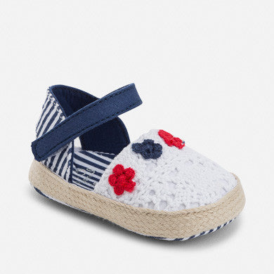 Mayoral Girls Red/White/Blue Espadrilles (sz 0-9m)
