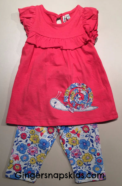 Ruffle Sleeve Snail Tunic & Leggings Set  (sz 3m-24m)