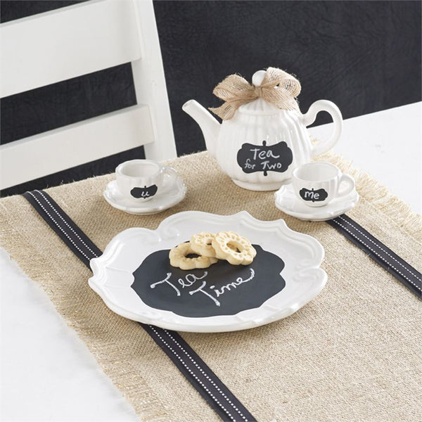 Mud Pie Chalkboard Tea Set