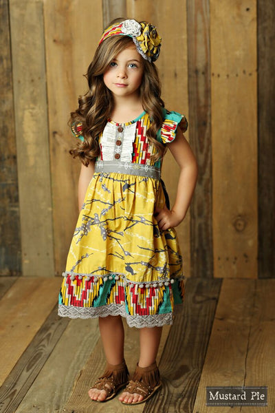 Mustard Pie Sunset Dunes Lola Dress (sz 2t-8)