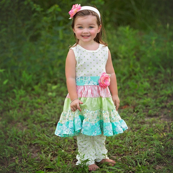 Haute Baby Lime Blossom Twirly Dress (sz 2T-10) | SPRING 2017 PREORDER