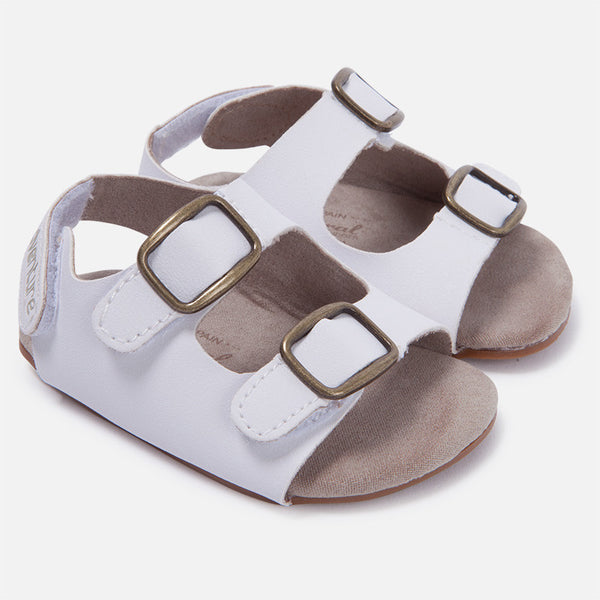 Mayoral Boys White Double Buckle Sandals (sz 0-9m)