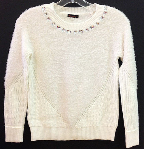 Ella Moss Cream Sonia Sweater  (sz 7/8-14)