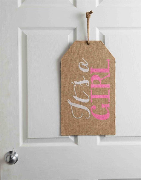 Mud Pie It's a Girl Door Tag