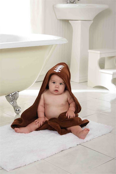 Mud Pie Football Hooded Towel