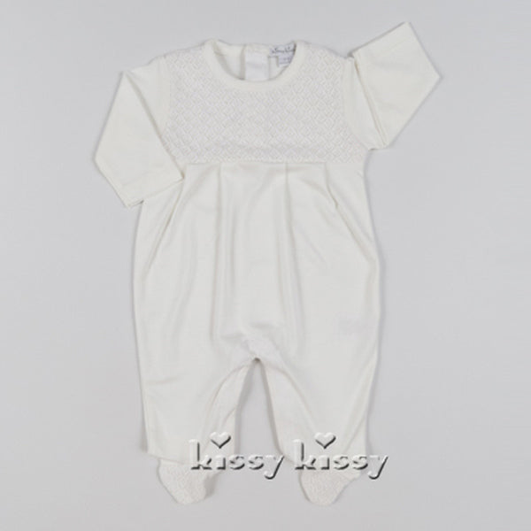 Kissy Kissy Blissful Ecru Footie (sz NB, 0/3m)