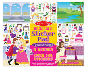 Melissa and Doug Reusable Sticker Pad - Princess Castle