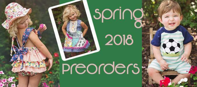 Gingersnaps Kids Spring & Summer 2018 Preorders