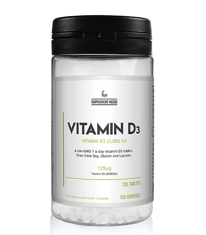 SUPPLEMENT NEEDS VITAMIN D3 - 120 TABS