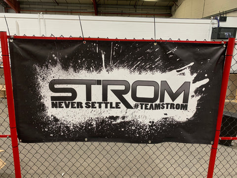 TEAM STROM #neversettle Banners