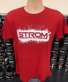 #TEAMSTROM #neversettle T-Shirt 'Red Crimson'