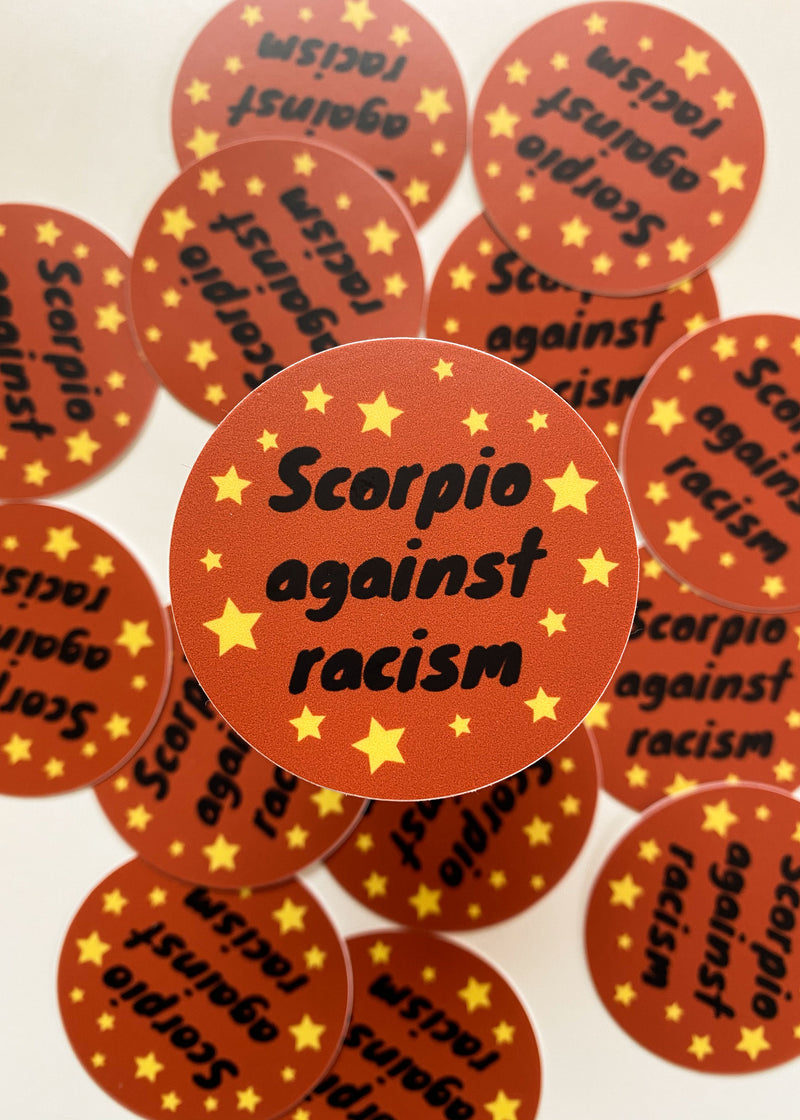 Scorpio Against Racism Sticker