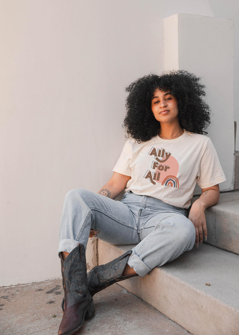 Ally For All Tee - Natural