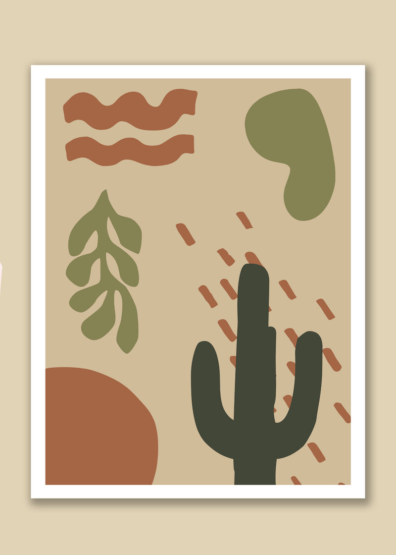 Desierto Abstract desert shapes wall art print