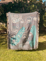 Faces Woven Blanket