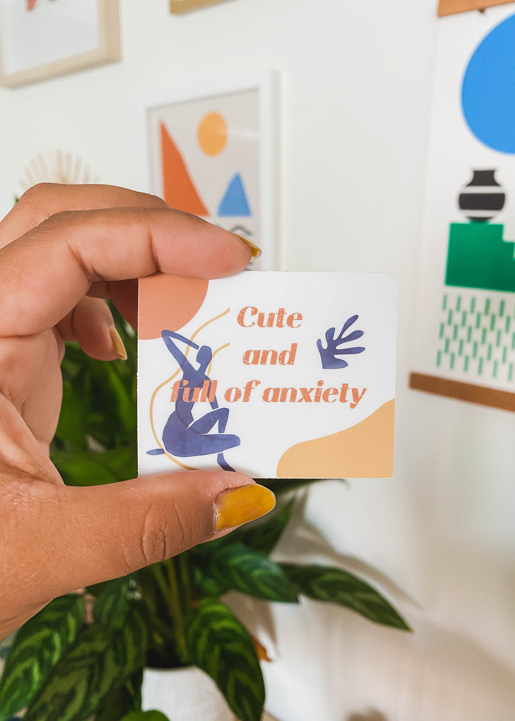 Cute & Full Of Anxiety Sticker