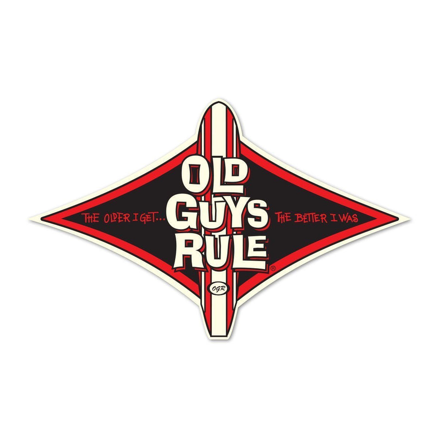 Old Guys Rule - Sticker - Diamond Longboard