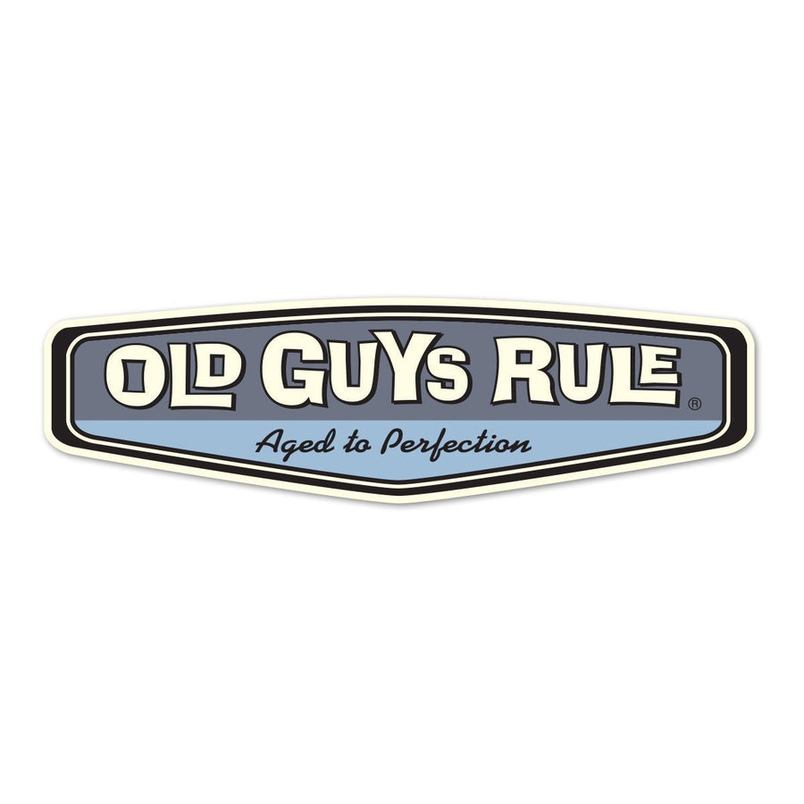 Old Guys Rule - Sticker - Rear View