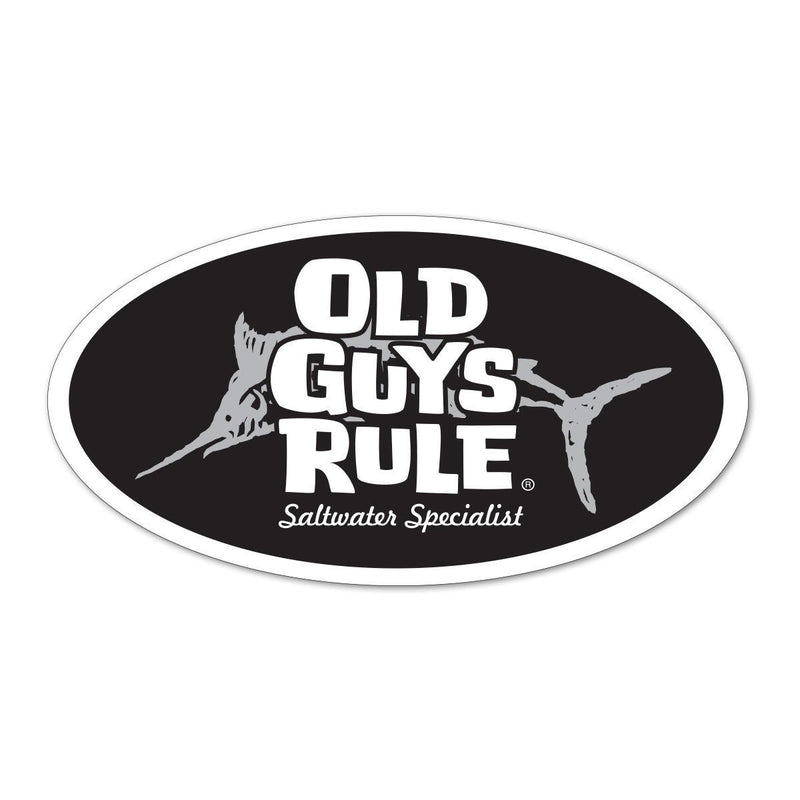 Old Guys Rule - Sticker - Saltwater Specialist (Black)