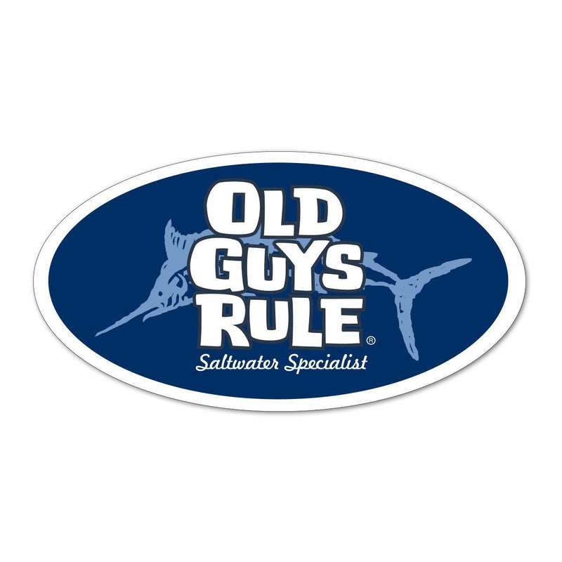 Old Guys Rule - Sticker - Saltwater Specialist (Blue)