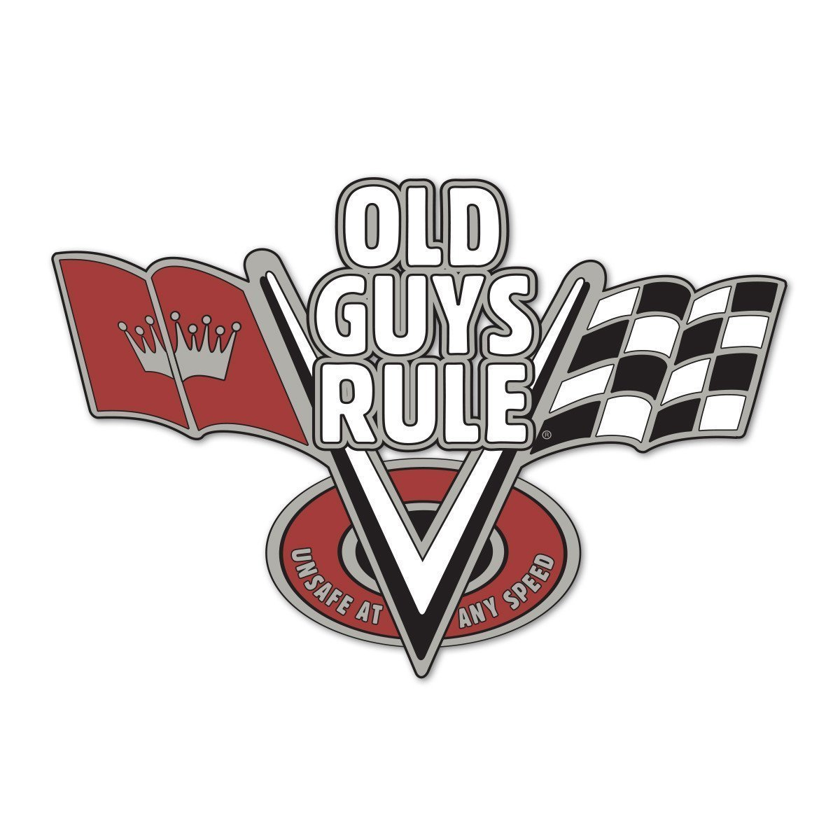 Old Guys Rule - Sticker - V-Flags