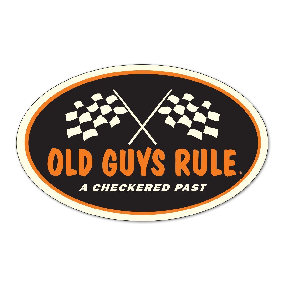 Old Guys Rule - Sticker - Checkered Past