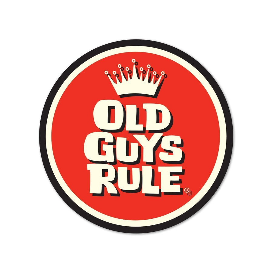 Old Guys Rule - Sticker - Crown Logo