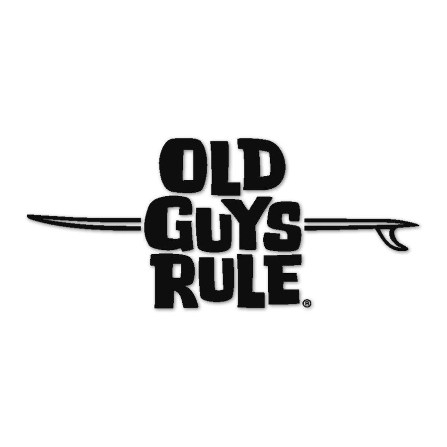 Old Guys Rule - Sticker - LB Logo (Black)